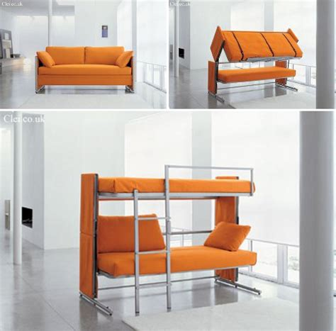 bed and couch in one space saving sleepers sofas convert to bunk beds in