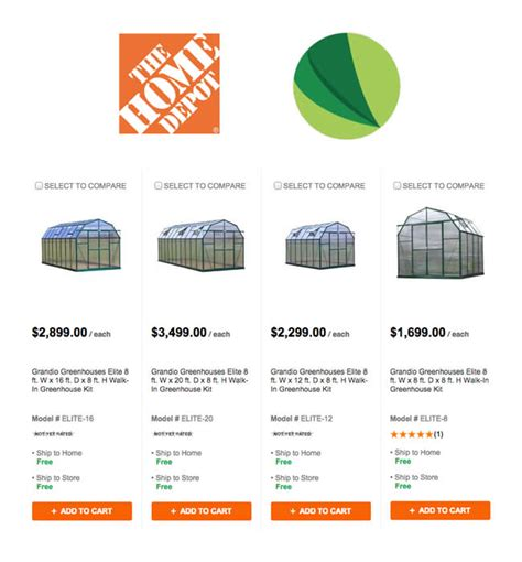 home depot layaway plan our greenhouses now at home depot grandio greenhouses