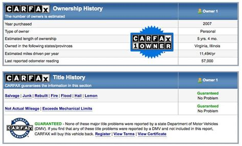 Car Records How To Read A Used Car History Report Used Cars