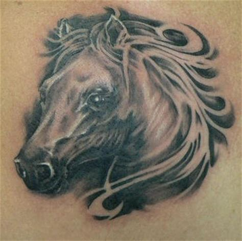 tattoo 3d horse 3d black and white horse tattoo tattooimages biz