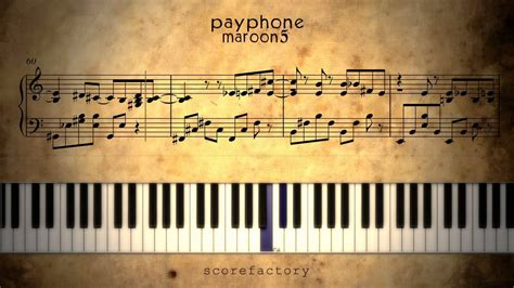 tutorial piano payphone payphone how to play on piano tutorial sheet music