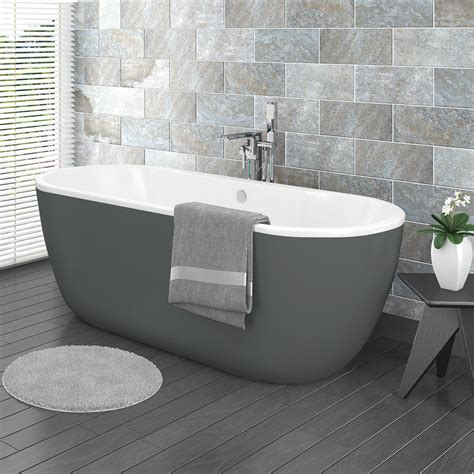verona grey freestanding modern bath victorian plumbing uk