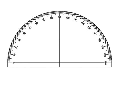 printable protractor to scale protractor actual size www pixshark com images