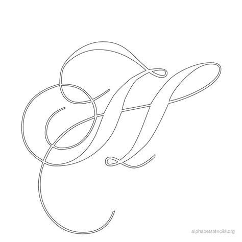 printable calligraphy letters alphabet stencils calligraphy h monograms pinterest