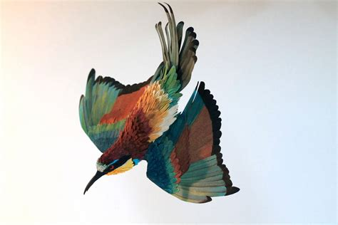 paper bird sculpture birds of a feather daily muse