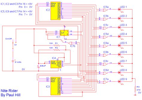 how to make a schematic diagram how to build nite rider lights circuit diagram