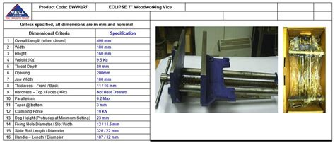 bench vice sizes eclipse ewwqr7 na quick release woodworking vice gray