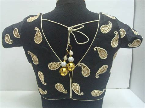 buy limited edition black cotton silk designer blouse