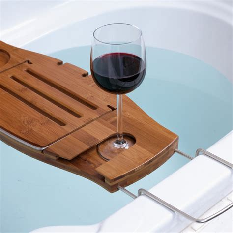 bathtub tray wood bath caddy rack and tray ideas pre tend be curious