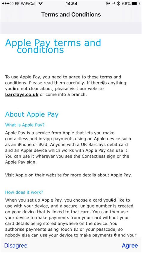 Resume Now Terms And Conditions Barclays Now Showing Apple Pay Terms And Conditions Updated Mac Rumors