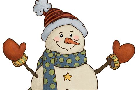 country clipart snowman country style clip illustration
