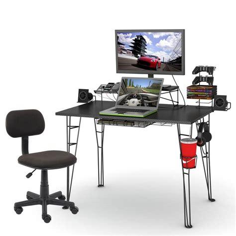 Computer Desk Set Up 17 Best Ideas About Gaming Desk On Pc Setup Computer Setup And Gaming Computer Desk