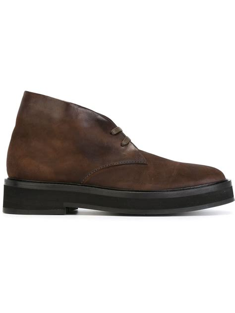 paul smith boots mens lyst paul smith lace up ankle boots in brown for