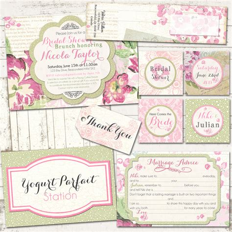vintage inspired wedding shower invitations bridal shower shabby chic pack vintage inspired on pink peony bridal shower