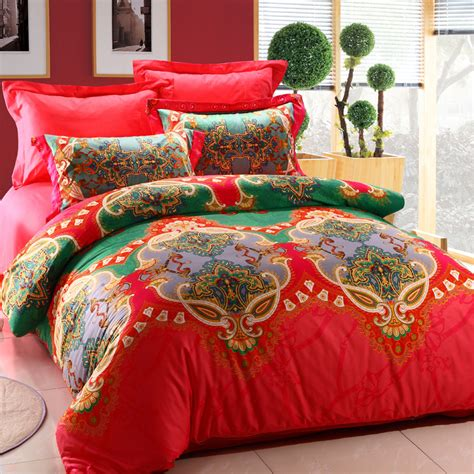 Bright Colored Bedding Sets Bohemia Designer Bedding Set 4pcs Bright Color Comforter Sets Bed Linens Duvet Cover Boho
