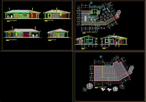 country restaurant hotel  dwg plan  autocad designscad