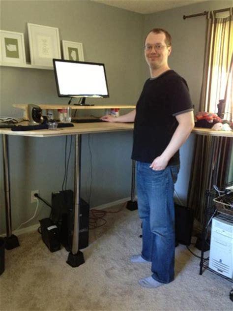 jims  tall diy standing desk