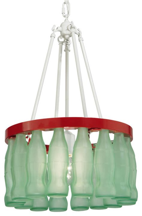 Coke Bottle Chandelier Meyda Lighting 114531 14 Quot W Coca Cola Bottle Chandelier Traditional Chandeliers By Lighting