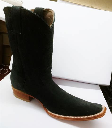 imagenes de botas vaqueras cuadradas botas vaqueras botas gamuza negro