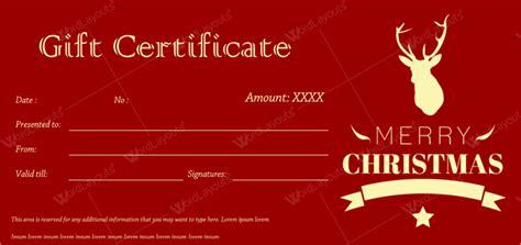 christmas gift certificate christmas spirit design christmas gift certificate templates best designs