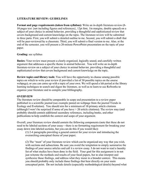 literature review template best photos of apa literature review outline apa