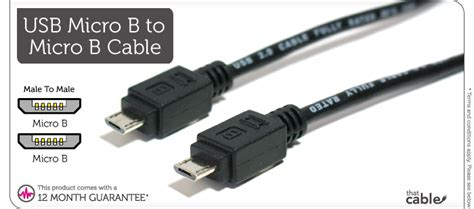 Produk Usb To Micro B Cable 2m usb micro b to micro b charger cable