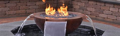 Concrete Block Houses fire and water american pools and fountains