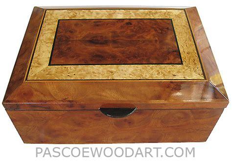 handcrafted wood box wood keepsake box chor burl