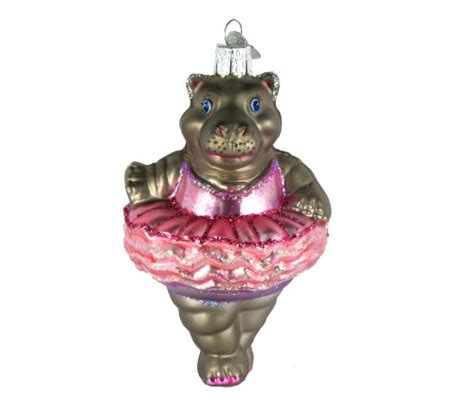 twinkle toes ballet hippo ornament christmas ornaments