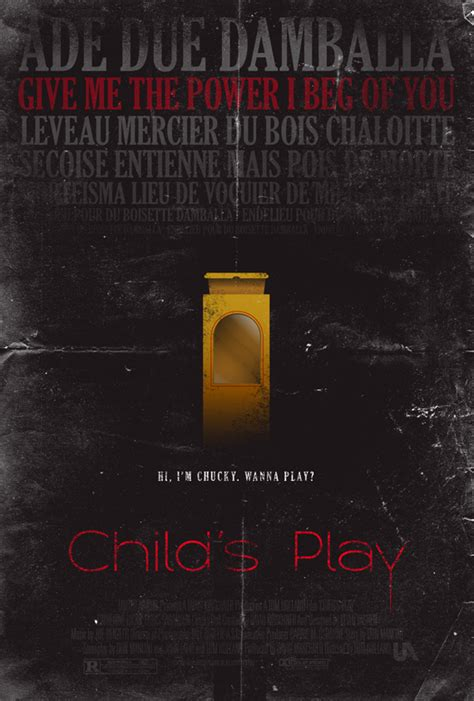 chucky movie remake child s play poster by adamrabalais on deviantart