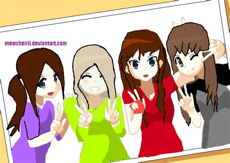 4 Anime Friends by 4 Anime Friends Base Www Pixshark Images Galleries