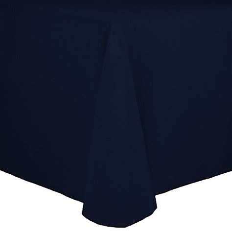 Oblong Nevy buy spun polyester 72 inch x 108 inch oblong tablecloth in navy from bed bath beyond