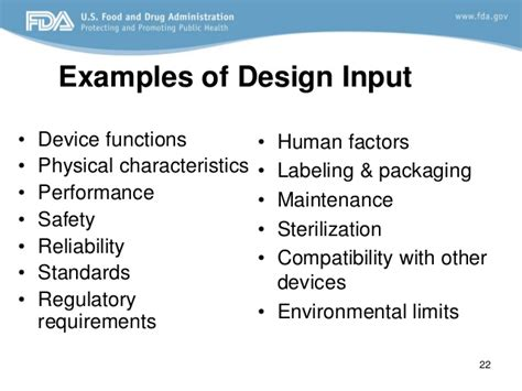 html input pattern a z design control fda requirements
