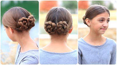 braid wrapped chignon updos cute girls hairstyles braid buns cute girls hairstyles