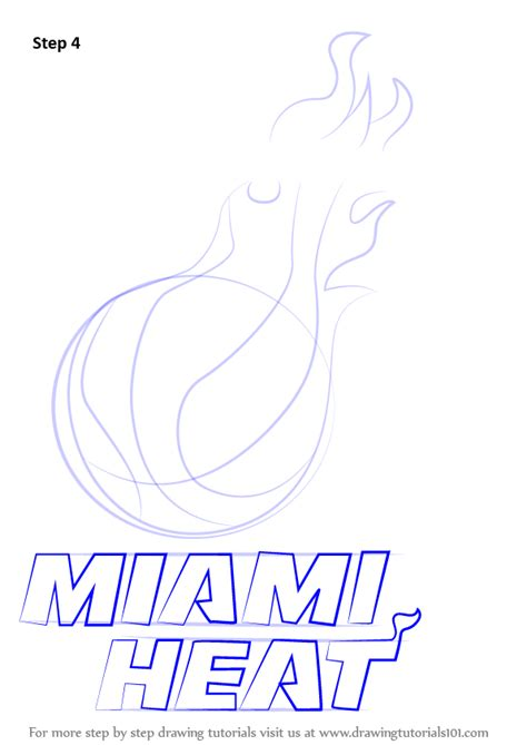 how to draw the heat logo learn how to draw miami heat logo nba step by step