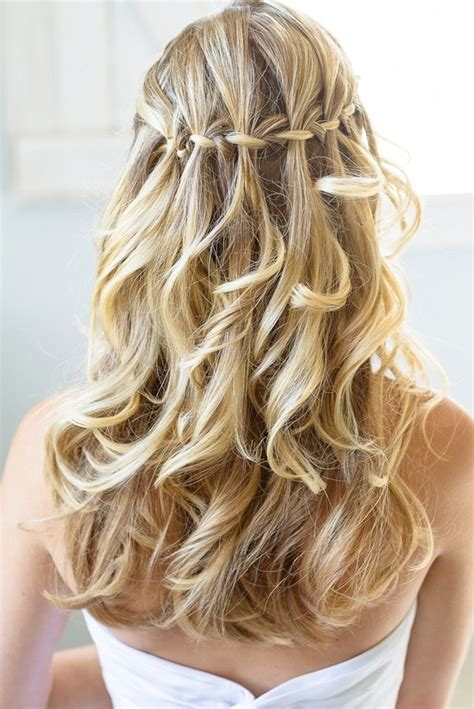Wedding Hairstyles Braids Curls by Waterfall Braid With Updo Newhairstylesformen2014
