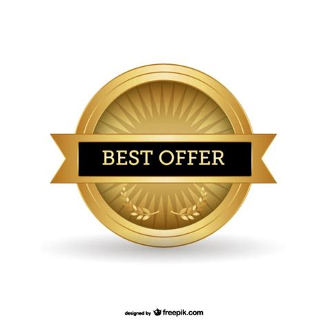best free offers best offer badge free vector 123freevectors