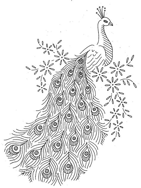 peacock template vintage embroidery pattern brook 7297 peacocks