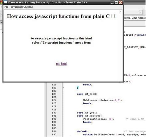 tutorial javascript function javascript function access from plain c an exle