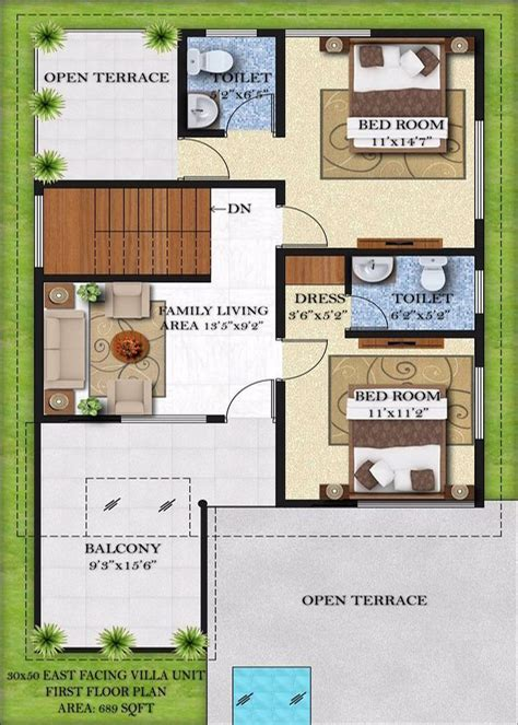 30x50 House Design by Home Design 15 X 30