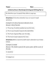 nouns worksheets collective nouns worksheets