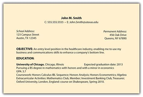 Objective In Resume career objective on resume template resume builder