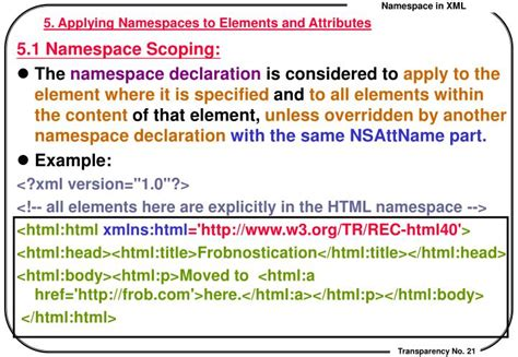 xml tutorial element attribute ppt namespace in xml powerpoint presentation id 5460717
