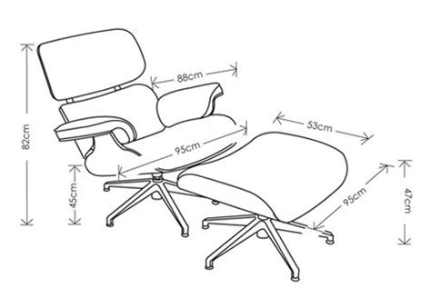 eames lounge chair and ottoman dimensions leather charles eames style lounge chair and ottoman
