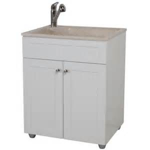 glacier bay 27 in w x 21 8 in d colorpoint laundry sink bcp2732com wh the home depot