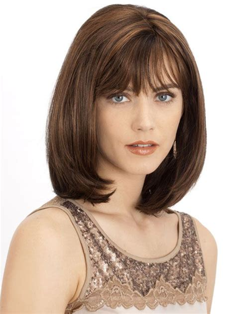 styling medium length hair with bangs for over 60 women 163 best images about hair on pinterest bobs short hair