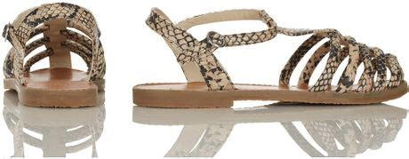 topshop closed toe sandals topshop hi caged closed toe sandals in brown