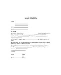 Lease Extension Letter To Tenant 7 Lease Renewal Templates Free Sle Exle Format