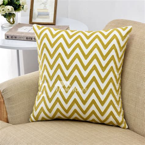 modern throw pillows for couch modern yellow chevron linen throw pillows for couch