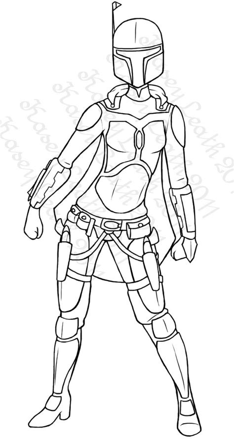 Mandalorian Female Armor 1 By Atroxa On Deviantart Mandalorian Coloring Pages